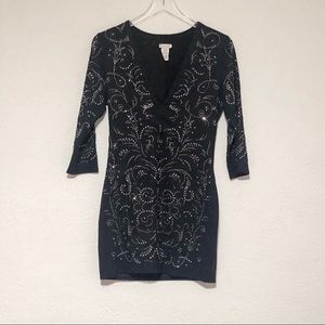 Black dress with bling size M